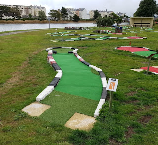 Crazy Golf at Mooragh Park in Ramsey on the Isle of Man