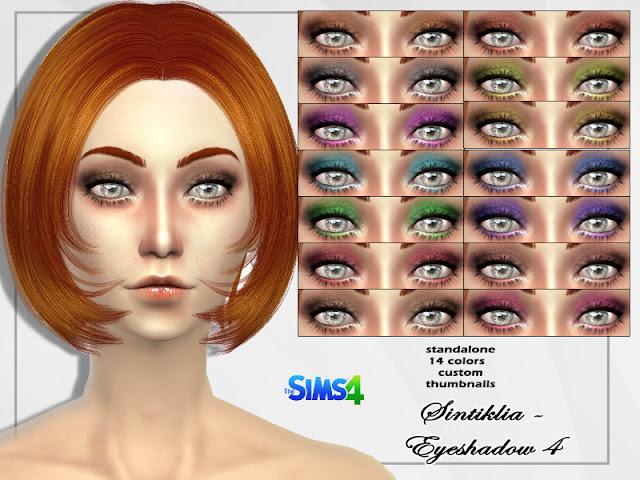 Тени для век для The Sims 4 со ссылками на скачивание