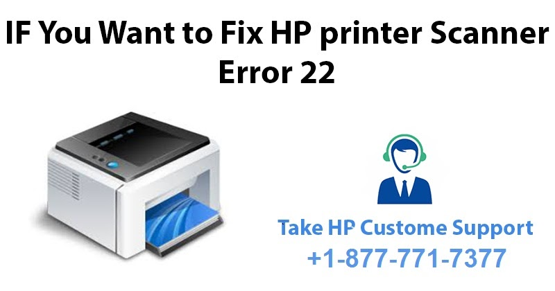 How to Fix HP LaserJet Pro Printers Scanner Error 22