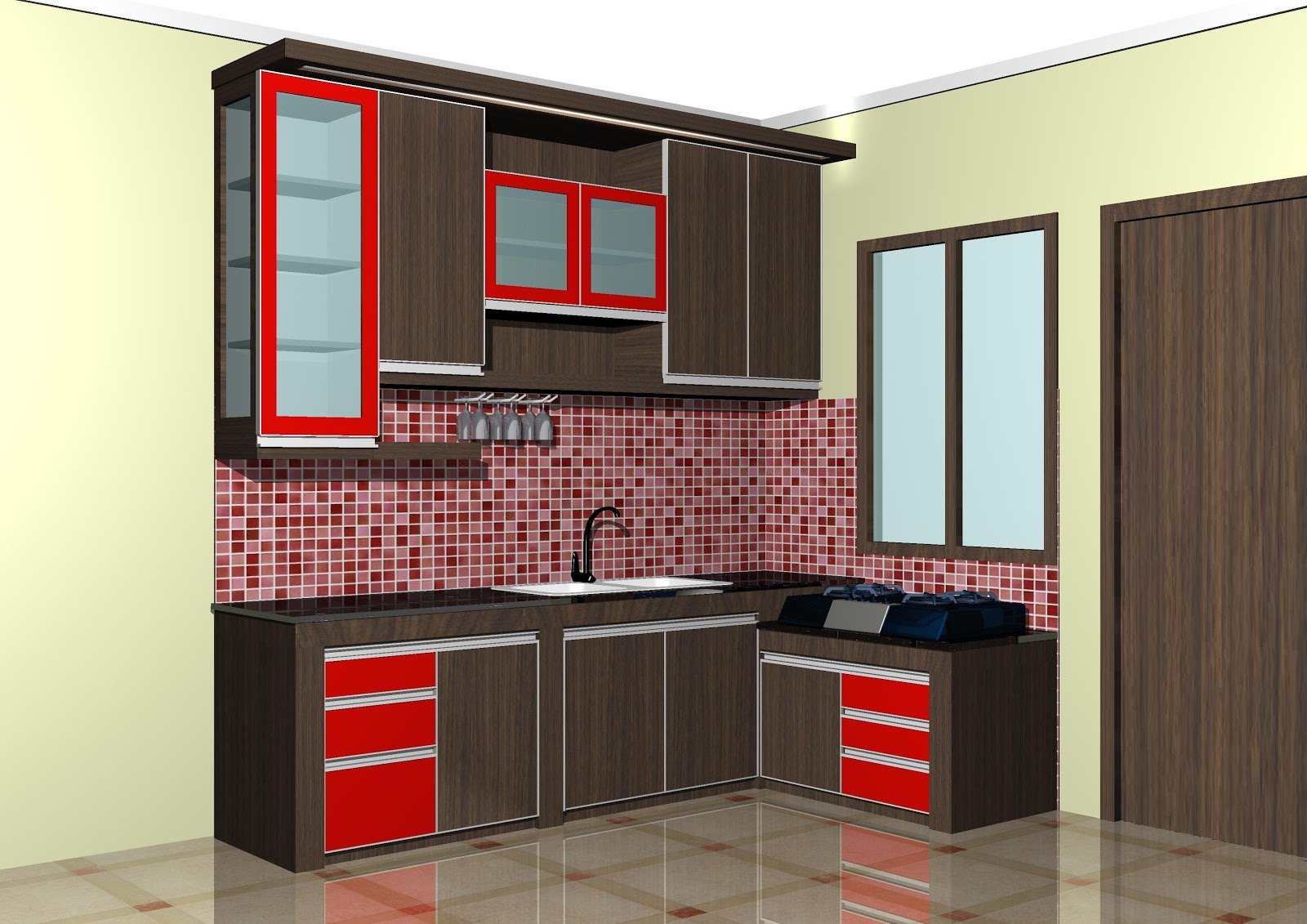 Fugasta Multi Karya Kitchen set dapur Letter L