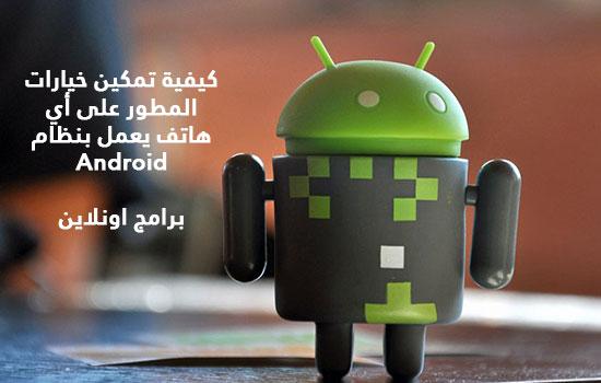 كيفية تمكين خيارات المطور على أي هاتف يعمل بنظام Android