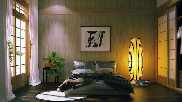 phòng ngủ phong cách Nhật Bản