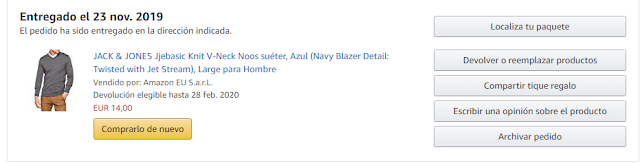 Amazon Mis Pedidos