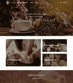 Template blogspot bán hàng Halu Coffee