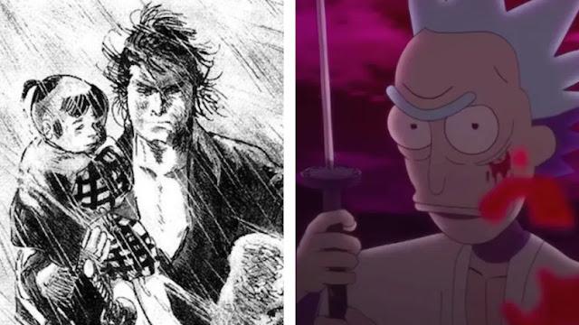 Studio Deen crea cortometraje anime de Rick and Morty, inspirados en Lobo Solitario