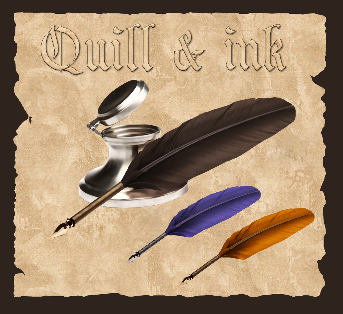 FREE PNG PSD PSP TUBES from Pewter7: PNG Quill & Ink 2Images Of Quill And Ink