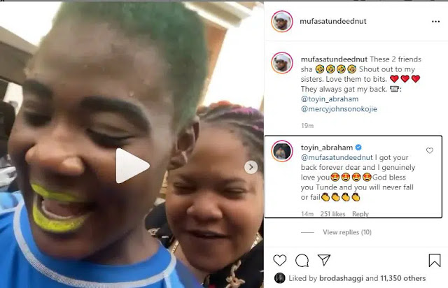 I genuinely love you- Toyin Abraham express her love for Tunde Ednut