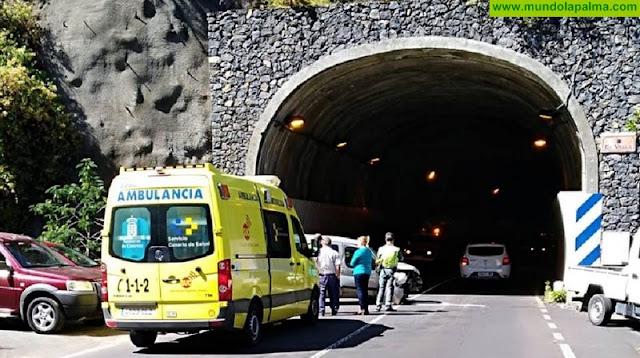 Accidente ayer en el túnel de Los Galguitos