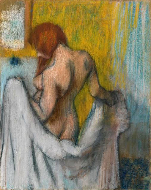 Эдгар Дега - Женщина с полотенцем (1894 или 1898)