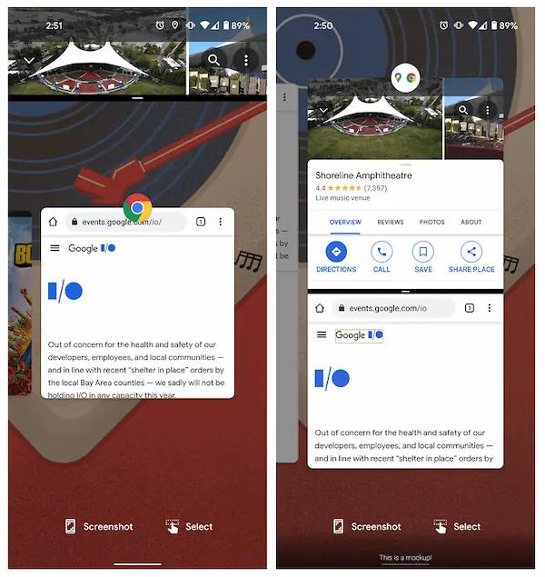Android 12: استخدام التطبيقات في أزواج