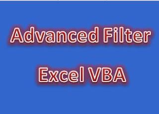 اكسيل VBA   من اهم مهارات الاكسيل البحث من خلال Advanced Filter
