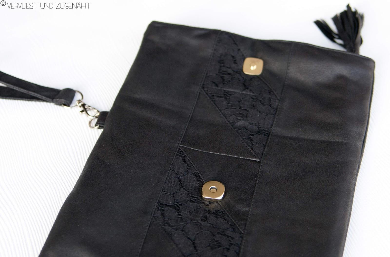 vervliest und zugen ht clutch emilia aus leder und spitze. Black Bedroom Furniture Sets. Home Design Ideas