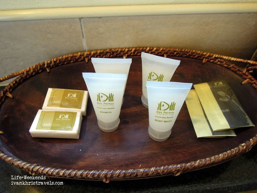 Toiletries at Dos Palmas Island Resort and Spa