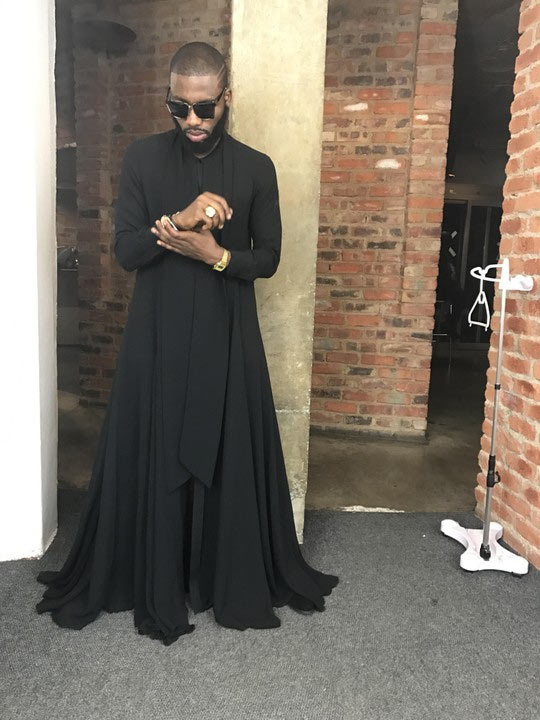 The dress celebrity stylist Jeremiah Ogbodo wore to BBN got people talking