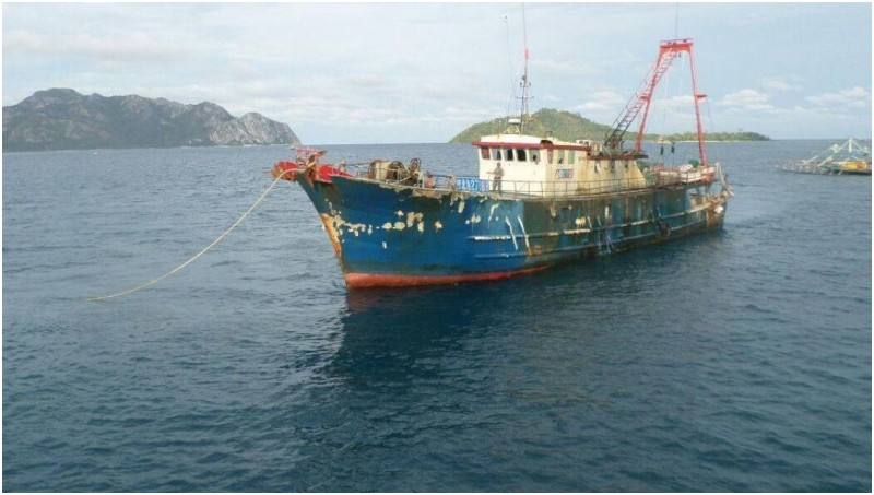 Kapal nelayan Cina yang ditangkap di perairan Natuna