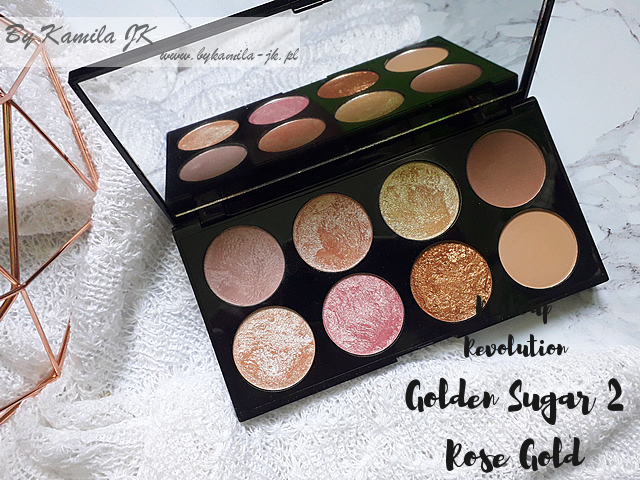 Makeup Revolution paletki różów Blush Palette Golden Sugar 2 Rose Gold