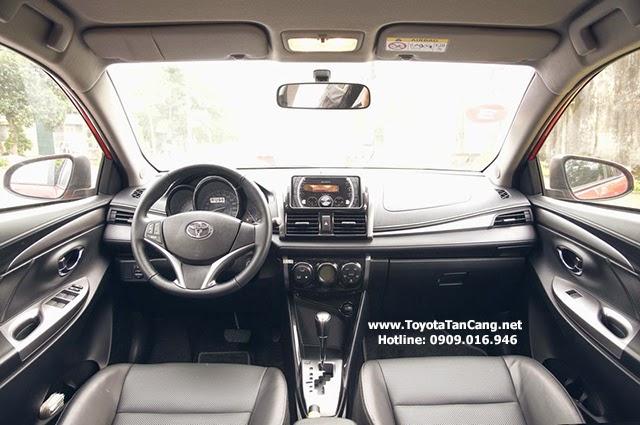 Nội thất Toyota Vios thiết kế hiện đại và rất thực dụng