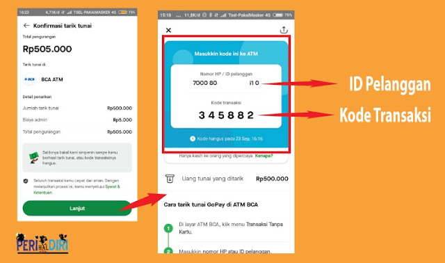 Cara Penarikan Tunai Saldo Gopay Tanpa Kartu di ATM BCA