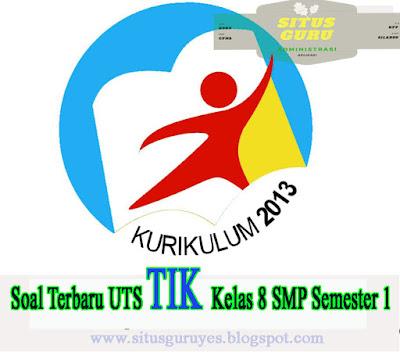 Download Soal Terbaru UTS TIK Kelas 8 SMP Semester 1 K13