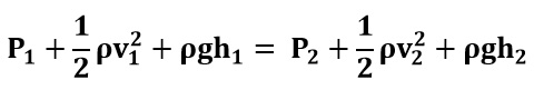 Expresión de la ecuación de Bernoulli