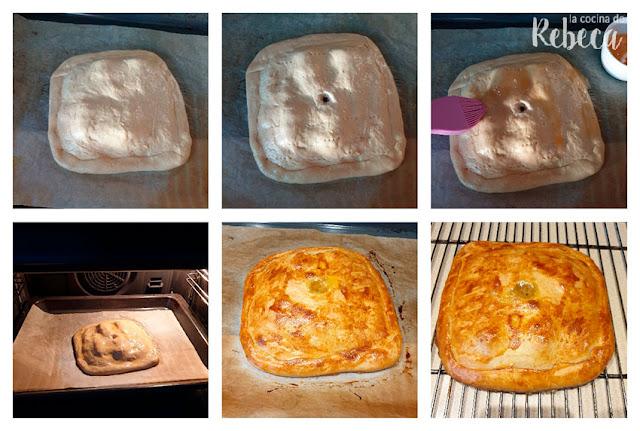 Receta de empanada de sardinillas: terminación y horneado