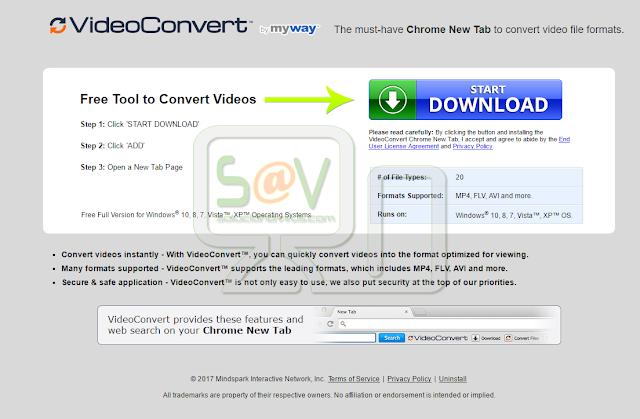 VideoConvert Toolbar