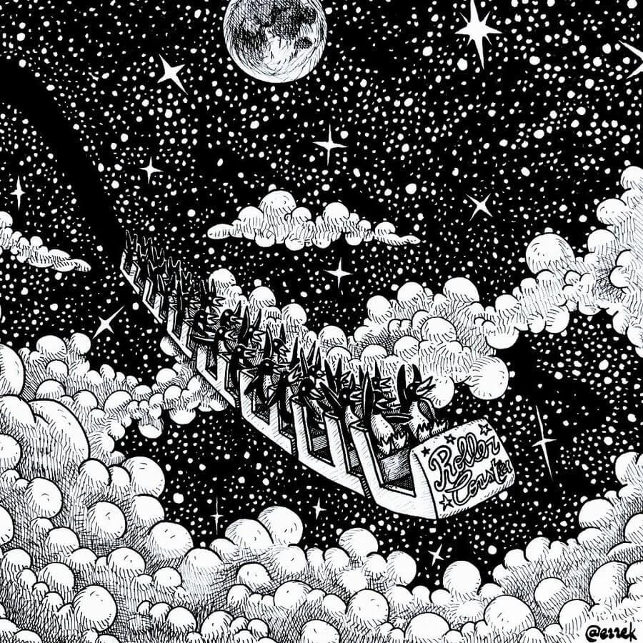 03-Roller-Coaster-Ezequiel-Abramzon-Surrealism-www-designstack-co