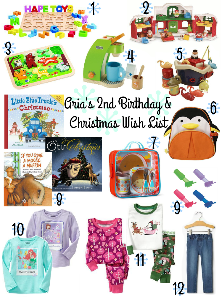 Aria's 2nd Birthday & Christmas Wish List - Toddler Gifts
