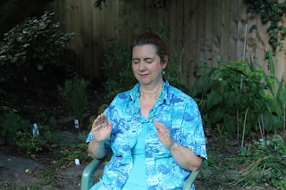 Kate Jones sending distant Reiki treatment