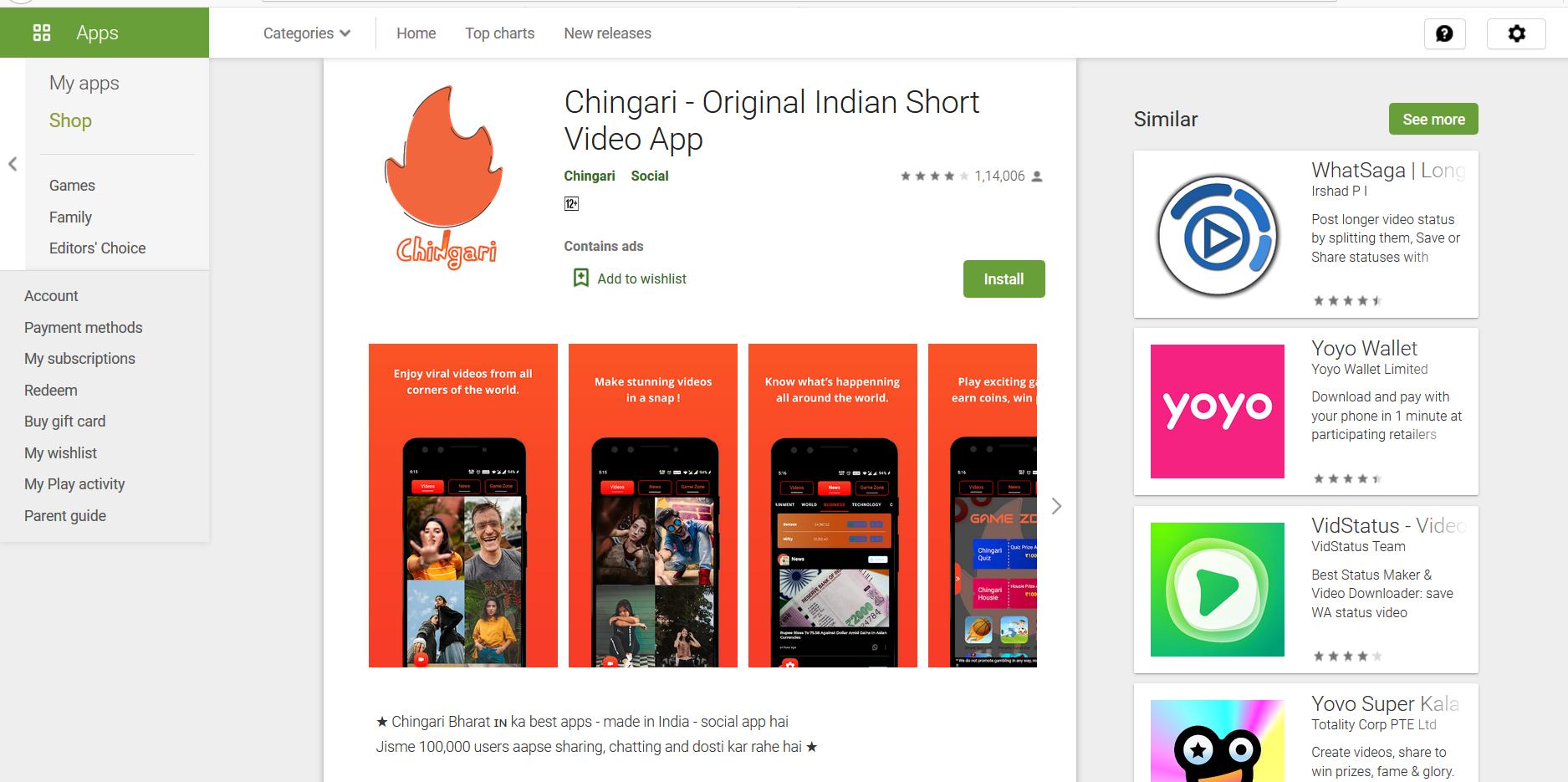 Chingari App Download
