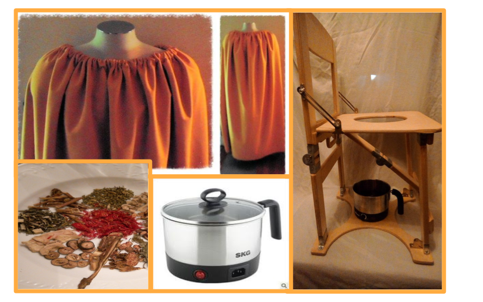 You will need a V-Steam Gown/Robe Steam Chair Steam Herbs and Steam Pot preferably a temperature controlled electric pot. & V STEAM | YONI STEAM | PERINEAL HIP BATH STEAM BATH: 5 Ws of V STEAM ...