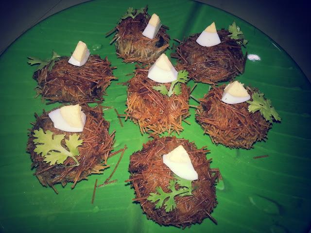 kilikoodu,birds nest,fry ,snack,,vermicelli