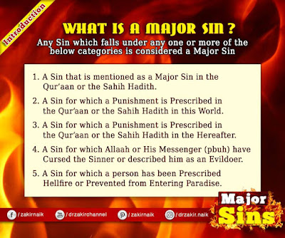 Major Sins in Islam | Kabira Gunah in the light of Quran & Sunnah