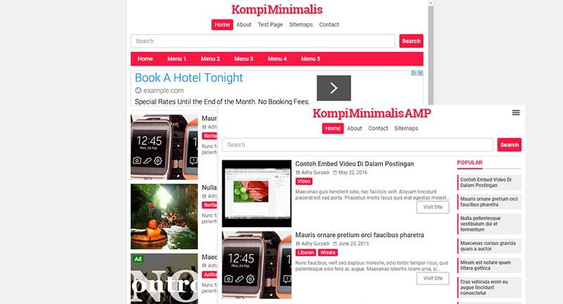 Update Premium Template Kompi Minimalis V3 (AMP Dan HTML5)