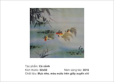 tranh thủy mặc Hoàng Văn Giang