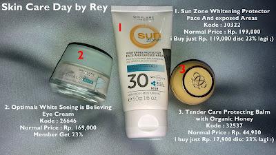 skin care Oriflame yang dipakai di siang hari