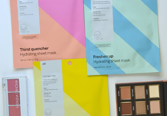 H&M Biocellulose and Hydrogel Hydrating and Energizing Sheet Masks