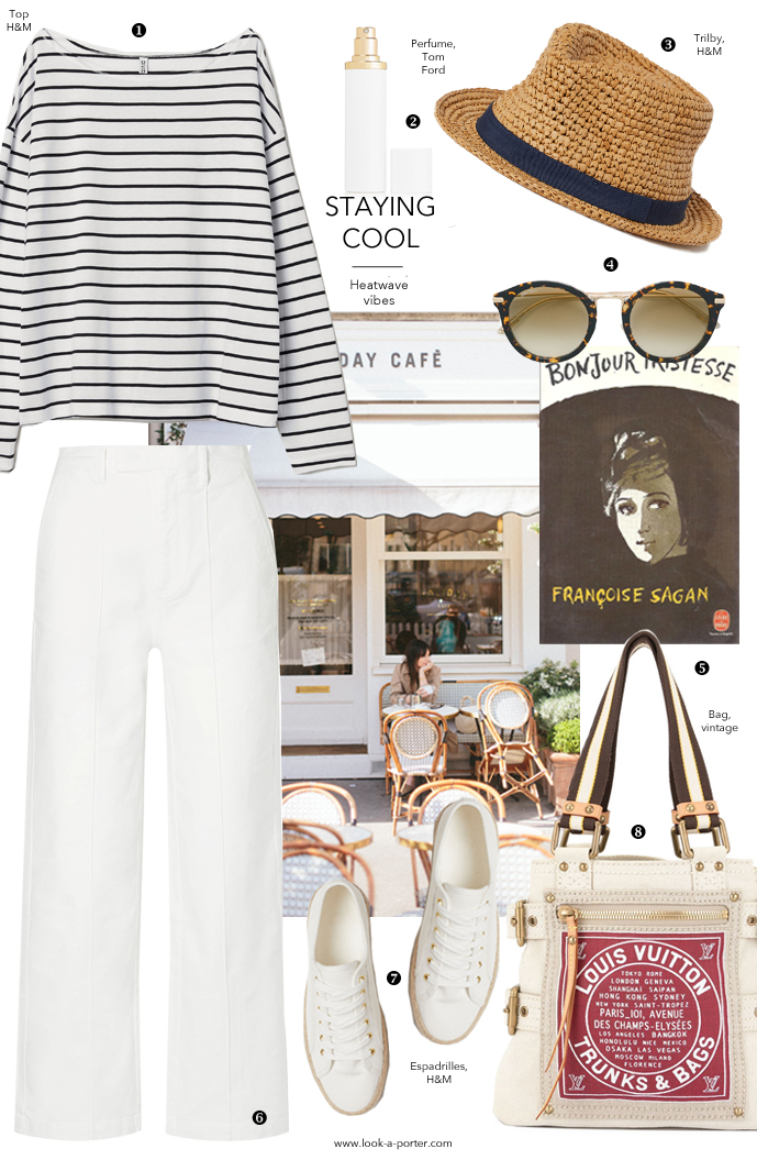 High street and vintage mix to style a parisian nautical inspired outfit for look-a-porter, british fashion blog