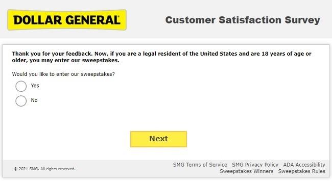 dollar general survey online