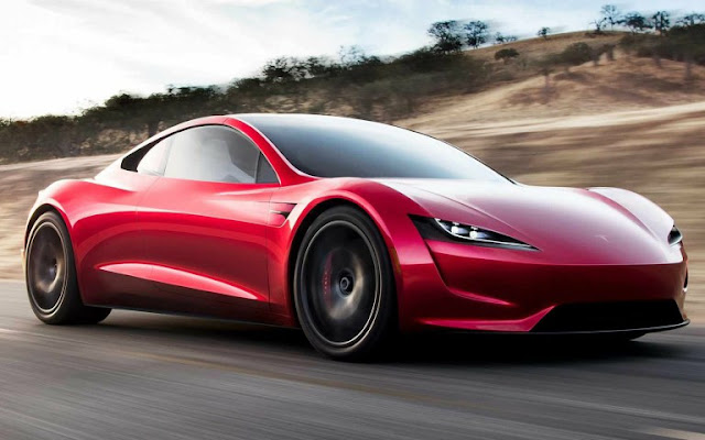 Flying Car Tesla Roadster The Fastest Accelerating Will Have Rocket Engine