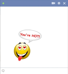 Smiley Face Saying You're Hot