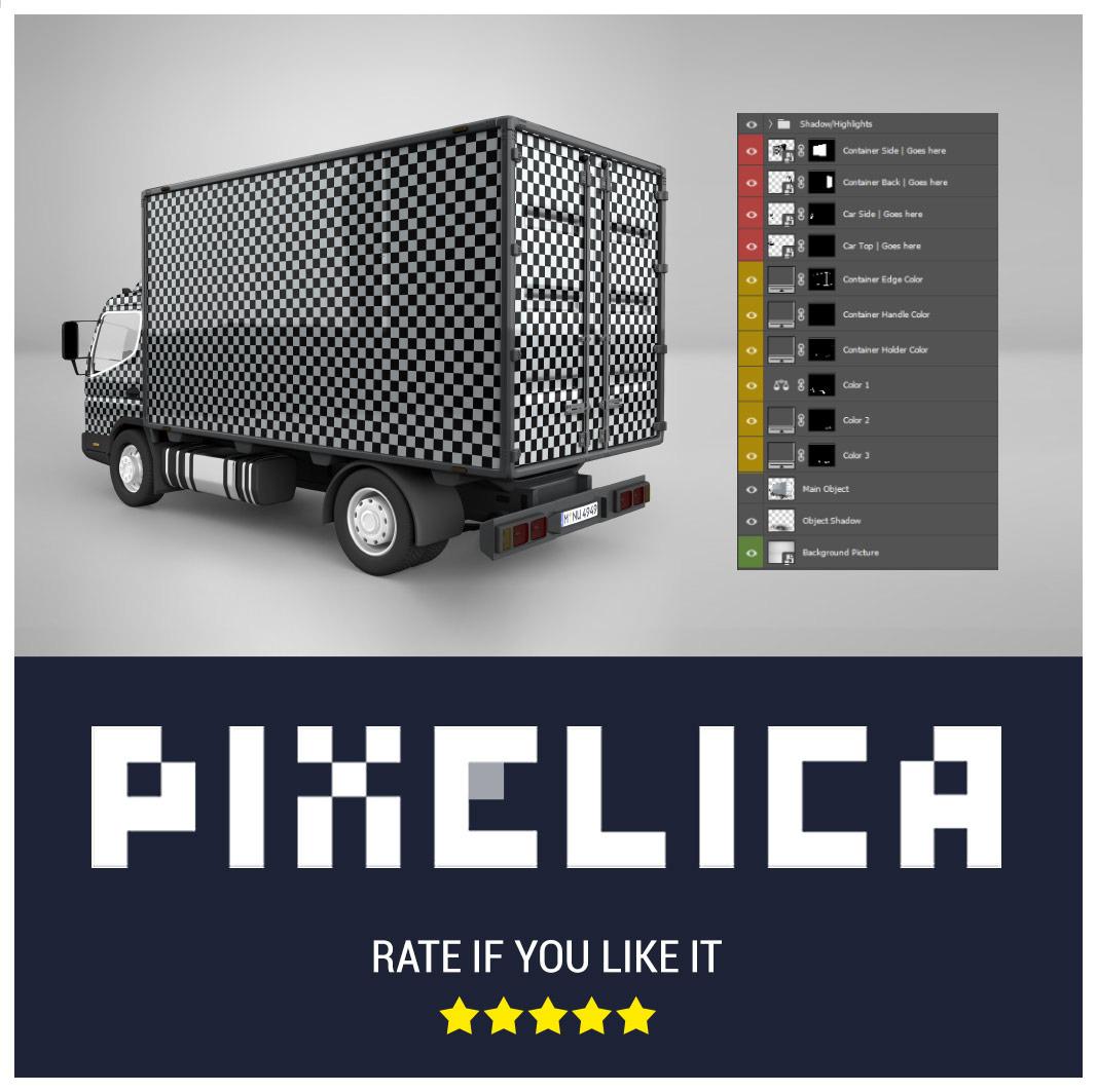 Download Box Truck Mockup