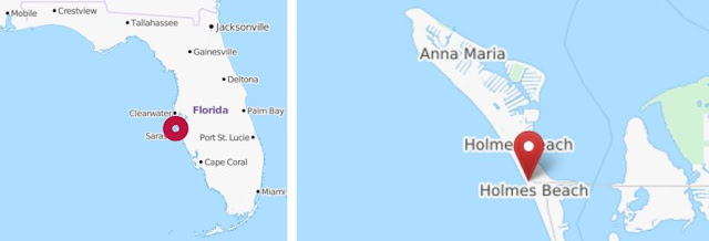 Manatee Beach auf Anna Maria Island, Florida USA