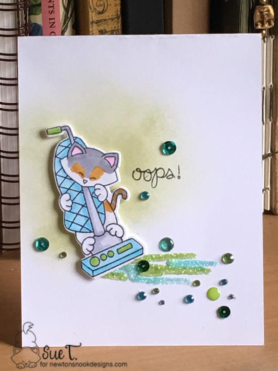 Oops by Sue features Naughty Newton and Newton Cleansup by Newton's Nook Designs; #newtonsnook