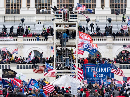 Blue Sweep in US, Riot In Capitol