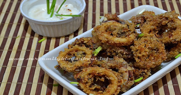 Calamares With Crispy Fry Seasoned Crumbs Recipe