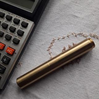 Pocket 6 brass fountain pen
