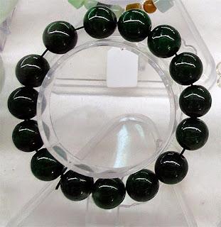Black jade beads