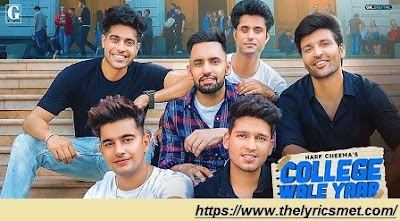 College Wale Yaar Song Lyrics | Harf Cheema  Guri | Jass Manak| Jayy | Karan | Vadda | Satti | Prince