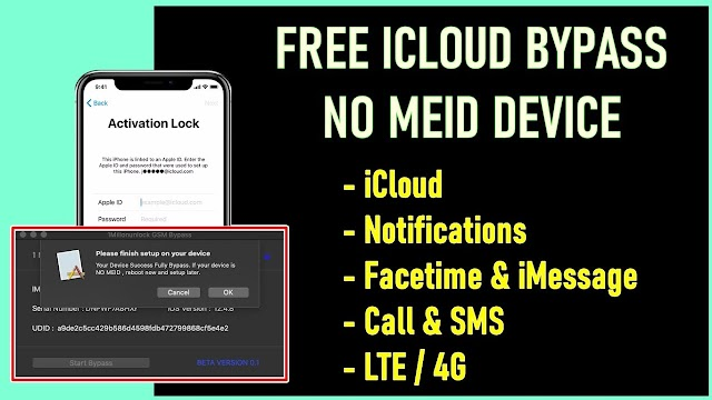 🔥 iCloud Bypass With Call & Notification Free For Everyone 🔥 GSM Device Only (NON-MEID)
